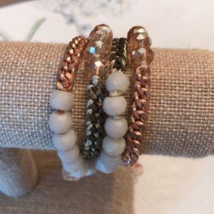 C + I Blush Pink Wrap Bracelet